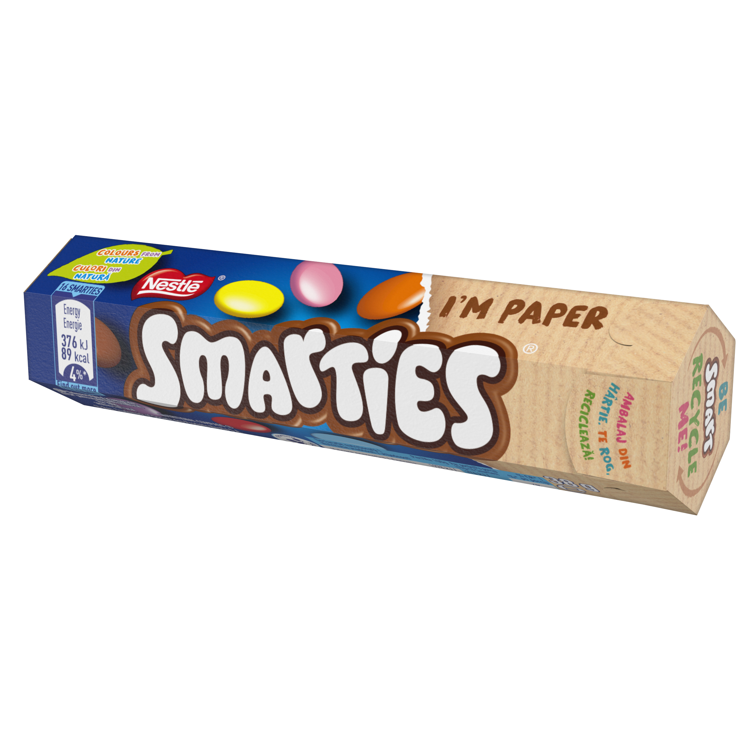 smarties small box paper
